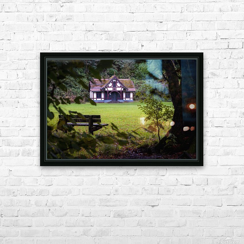 Craig-y-Nos Country park pavilion HD Sublimation Metal print with Decorating Float Frame (BOX)