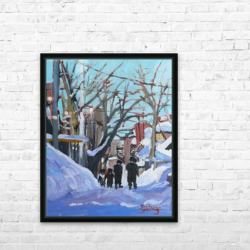Montreal Winter Outremont HD Sublimation Metal print with Decorating Float Frame (BOX)