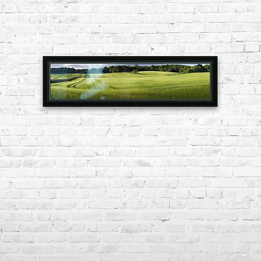 Wheat Fields HD Sublimation Metal print with Decorating Float Frame (BOX)