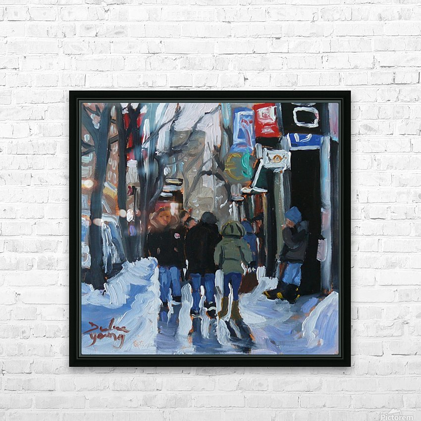 Montrel winter Scene, Ste-Catherine HD Sublimation Metal print with Decorating Float Frame (BOX)