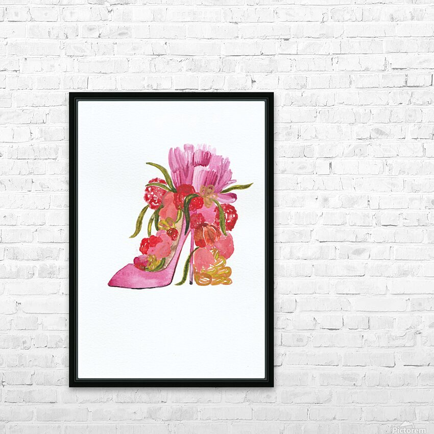 Flower heel HD Sublimation Metal print with Decorating Float Frame (BOX)