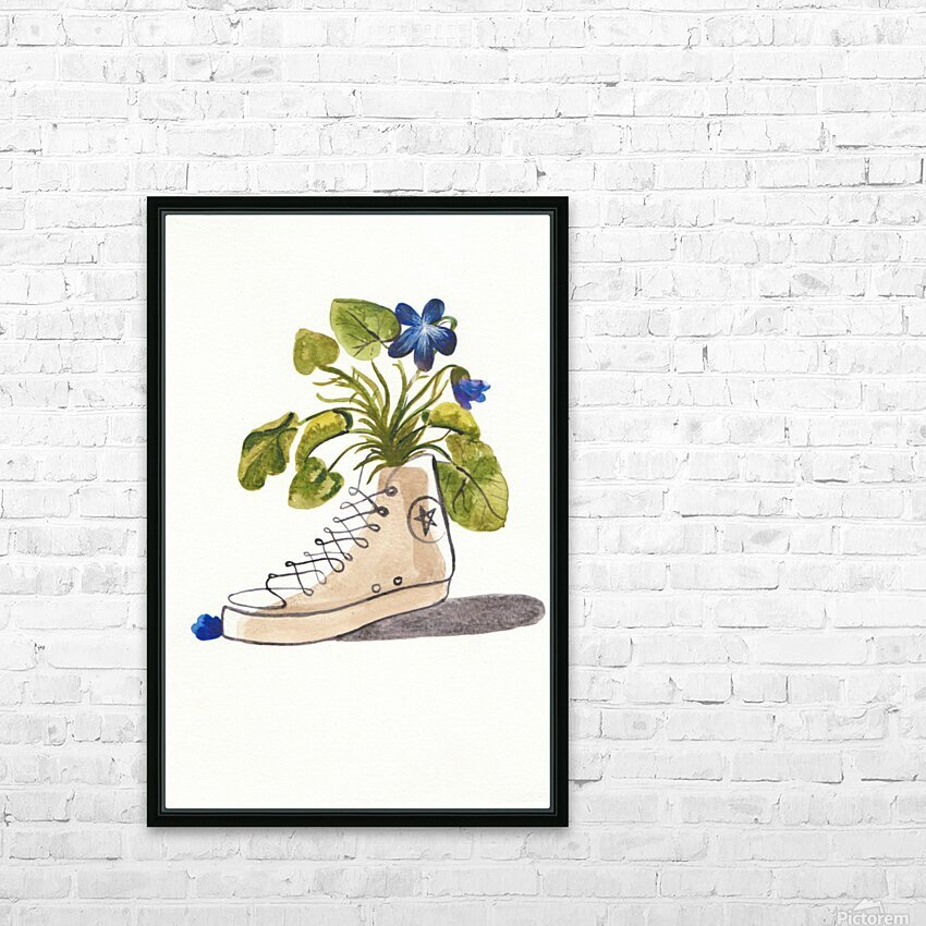 Chucks and Flowers  HD Sublimation Metal print with Decorating Float Frame (BOX)