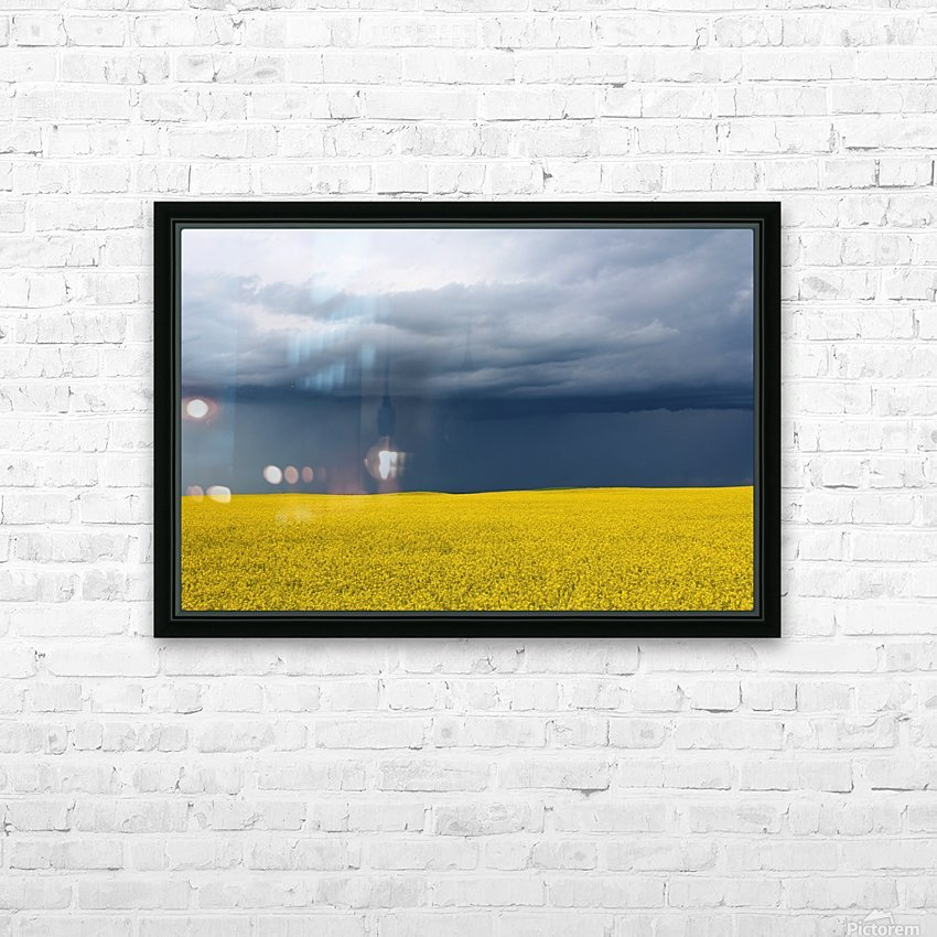 Summer Canola HD Sublimation Metal print with Decorating Float Frame (BOX)
