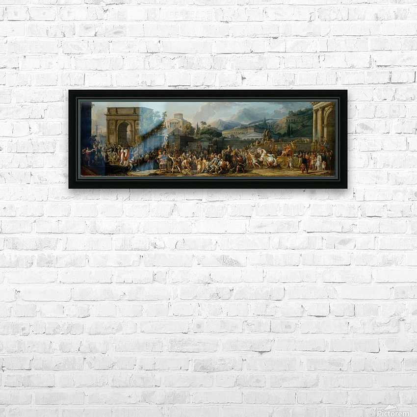 The Triumph of Aemilius Paulus HD Sublimation Metal print with Decorating Float Frame (BOX)