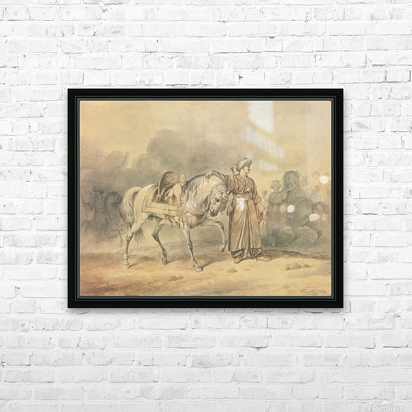 A Mameluk leading his horse HD Sublimation Metal print with Decorating Float Frame (BOX)