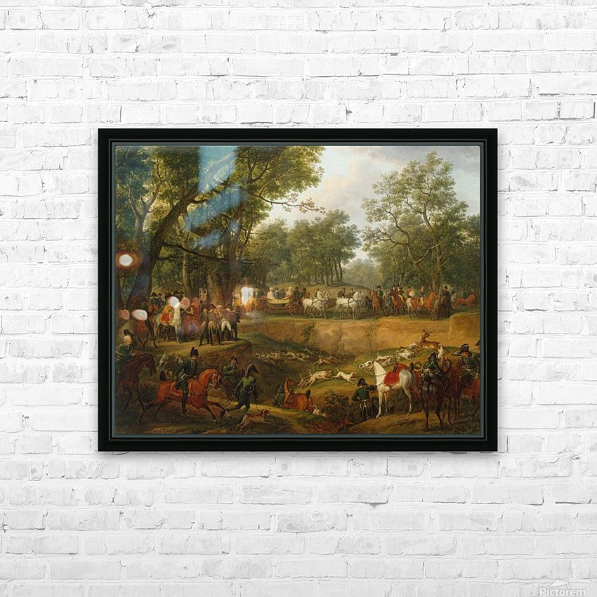 Napoleon on a Hunt in the Forest of Compiegne HD Sublimation Metal print with Decorating Float Frame (BOX)