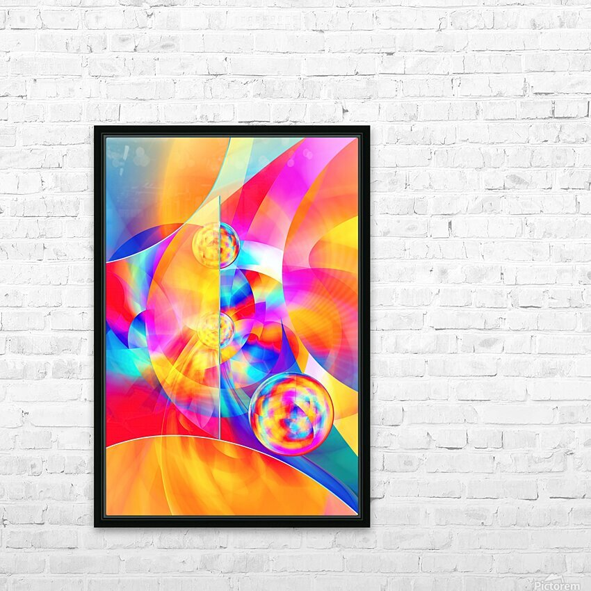 4th Dimension -Abstract Art XVII HD Sublimation Metal print with Decorating Float Frame (BOX)