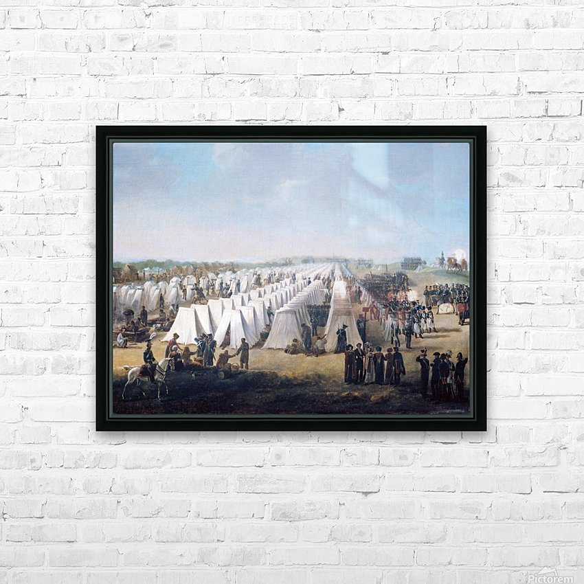 Army Camp in Rows 1831 HD Sublimation Metal print with Decorating Float Frame (BOX)