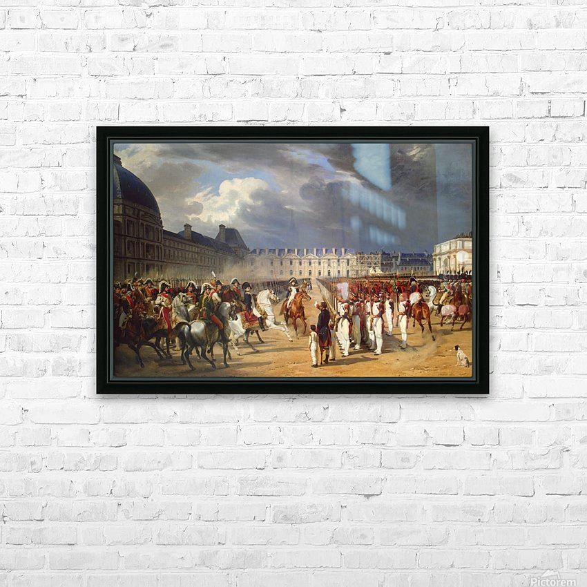An Invalid Submitting a Petition to Napoleon at a Parade in the Courtyard of the Tuileries Palace 1838 HD Sublimation Metal print with Decorating Float Frame (BOX)