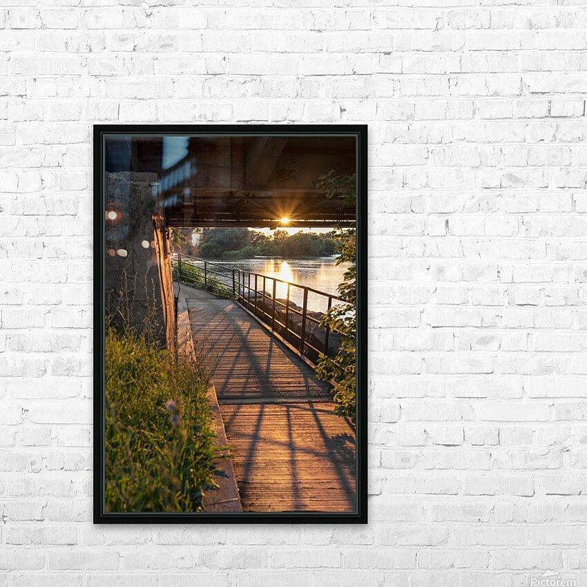 BridgeBoardwalk HD sublimation métal imprimé avec décoration flotteur cadre (boîte)