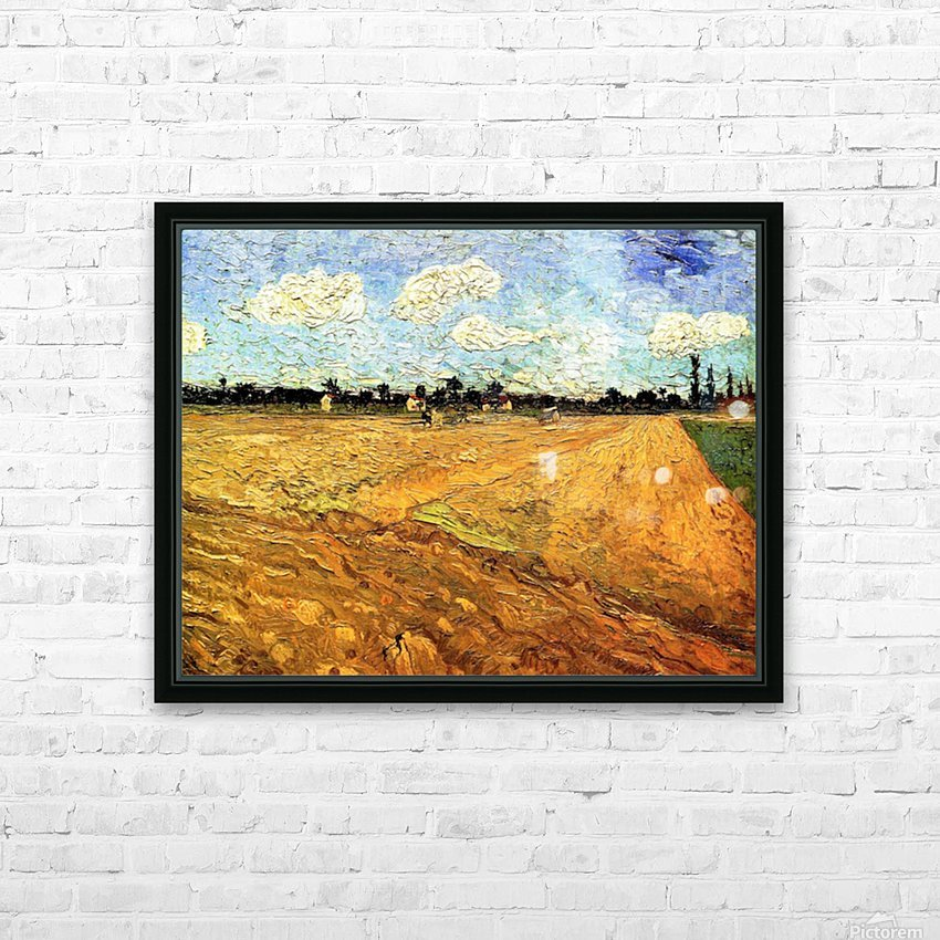 Ploughed Field by Van Gogh HD Sublimation Metal print with Decorating Float Frame (BOX)