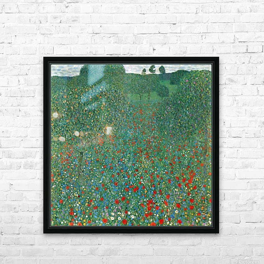 Poppy Field by Klimt HD Sublimation Metal print with Decorating Float Frame (BOX)