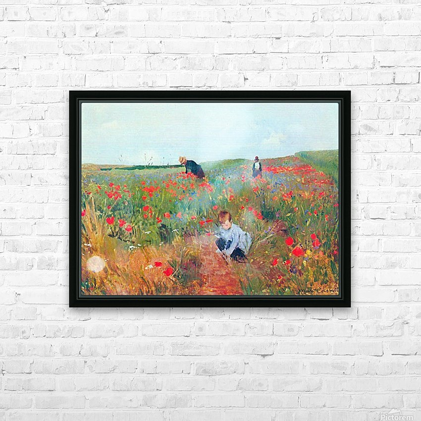 Poppy in the field by Cassatt HD Sublimation Metal print with Decorating Float Frame (BOX)
