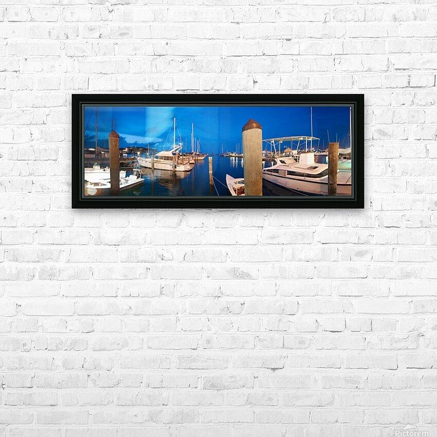 Key West Marina at Dusk HD Sublimation Metal print with Decorating Float Frame (BOX)