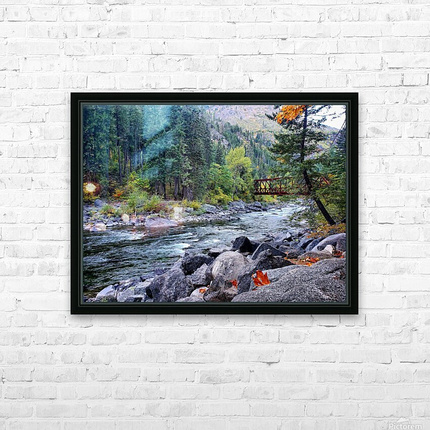 Old Pipeline Bed Trail HD Sublimation Metal print with Decorating Float Frame (BOX)