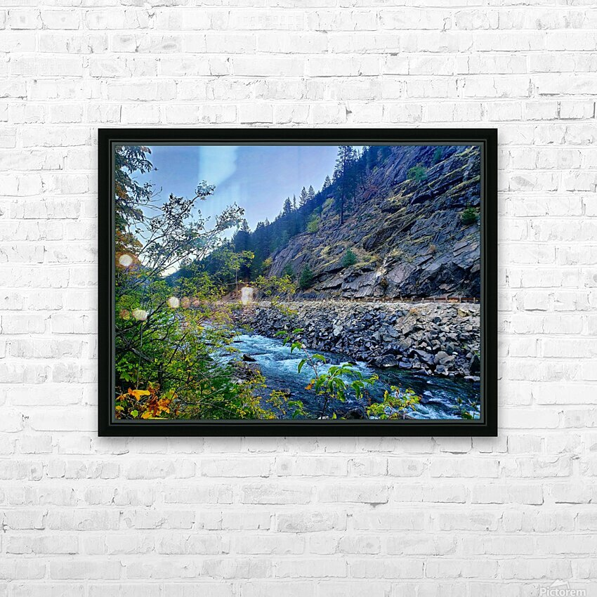 Wenatchee River  HD Sublimation Metal print with Decorating Float Frame (BOX)