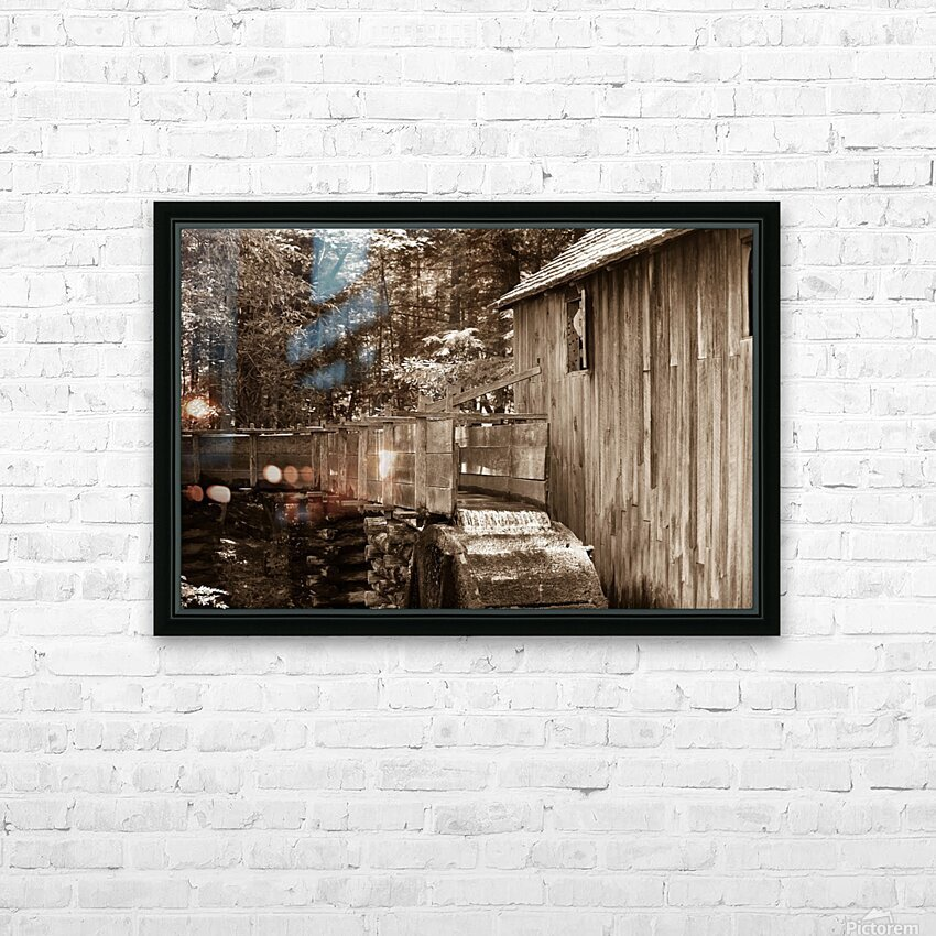 The John Cable Grist Mill HD Sublimation Metal print with Decorating Float Frame (BOX)