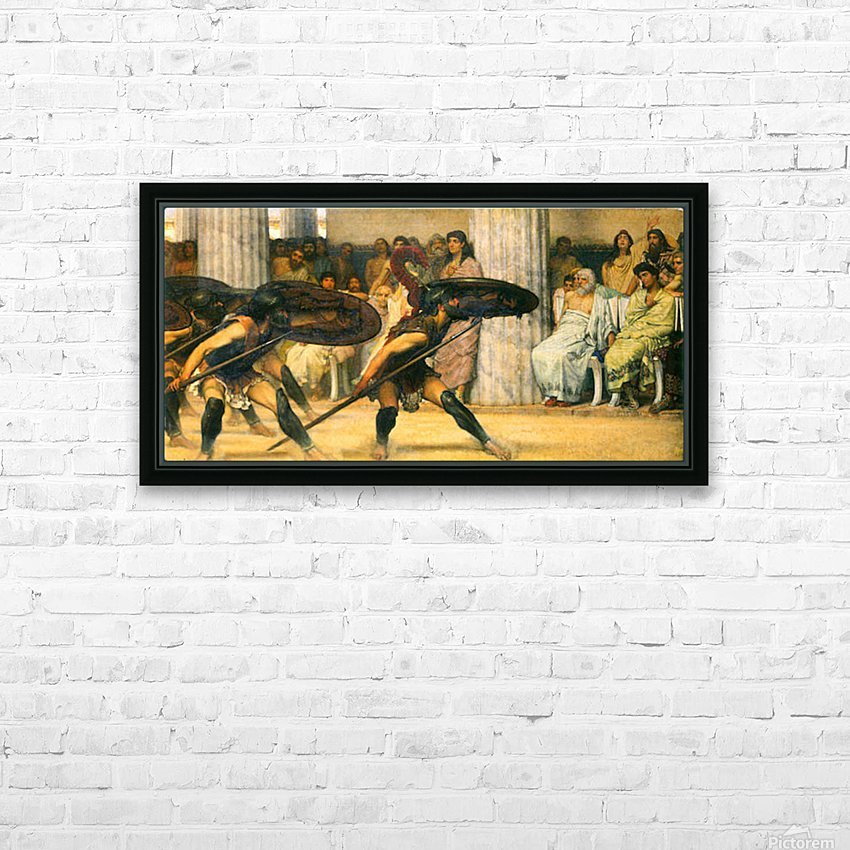 A dance for Phyrrus by Alma-Tadema HD Sublimation Metal print with Decorating Float Frame (BOX)