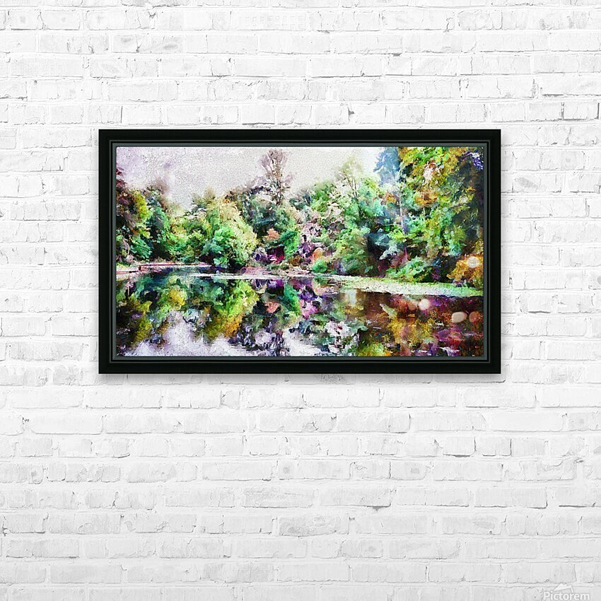 Fall Lake Reflections HD Sublimation Metal print with Decorating Float Frame (BOX)