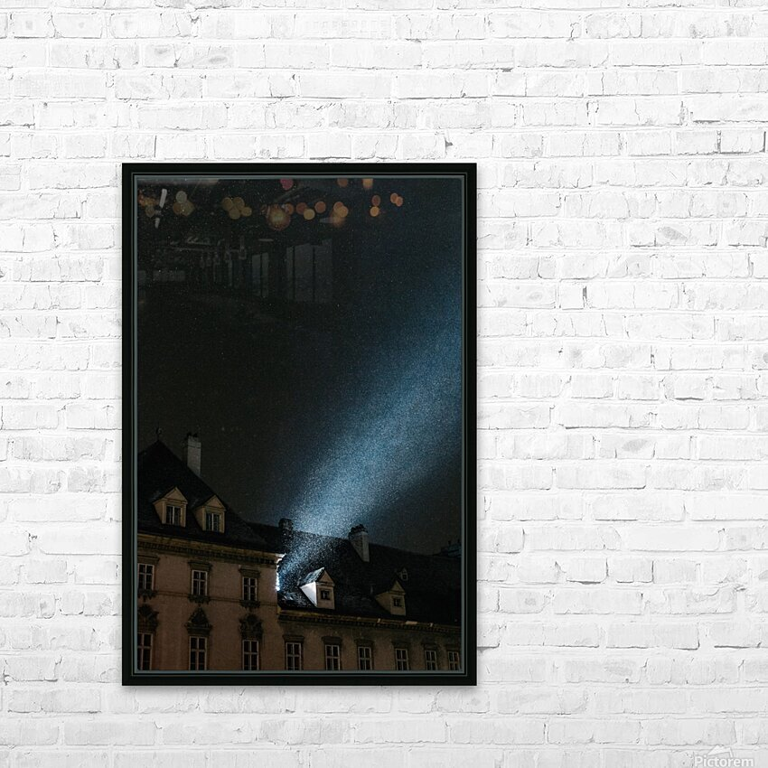 Snow by night HD Sublimation Metal print with Decorating Float Frame (BOX)