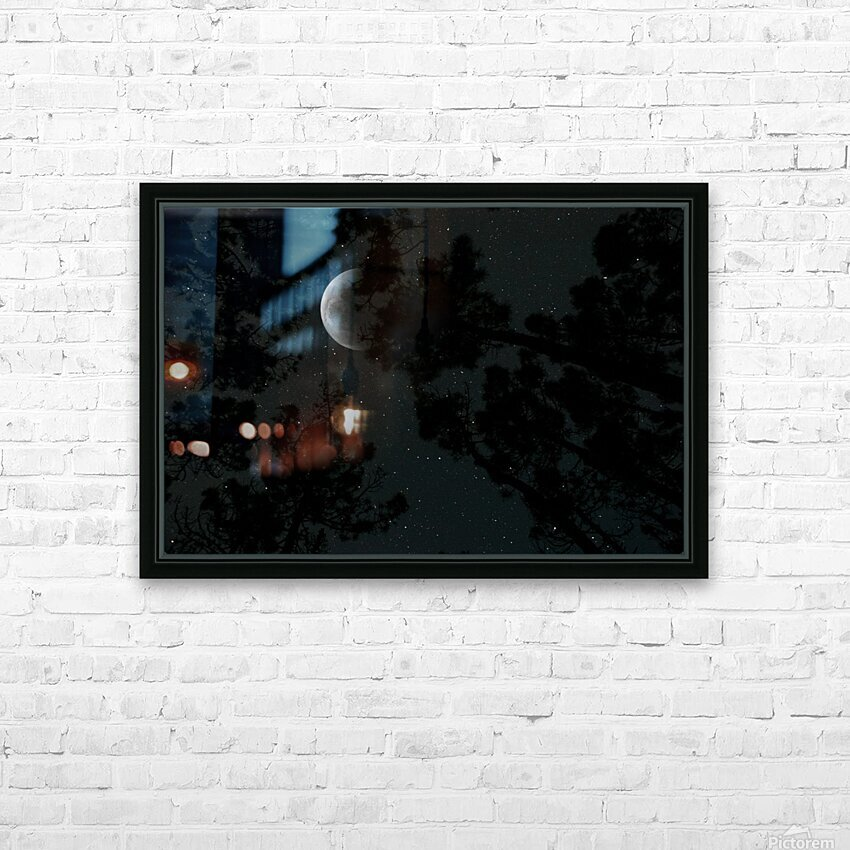 Moonlight HD Sublimation Metal print with Decorating Float Frame (BOX)