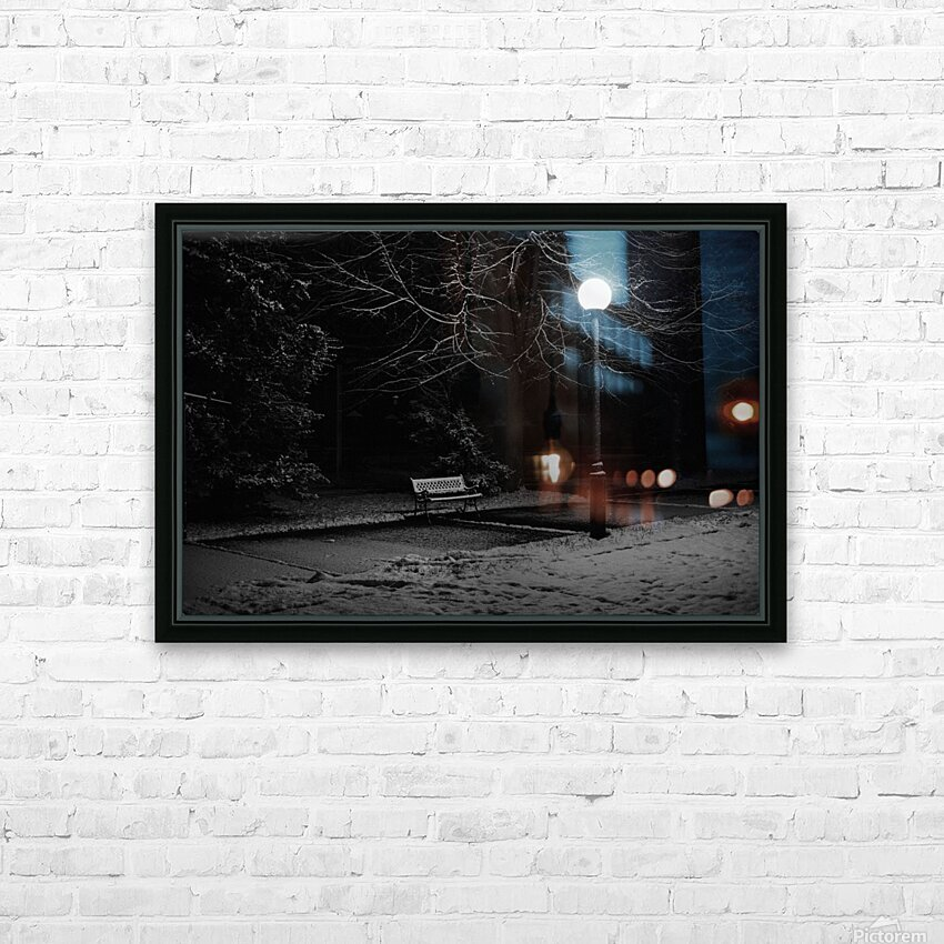 Winter night HD Sublimation Metal print with Decorating Float Frame (BOX)