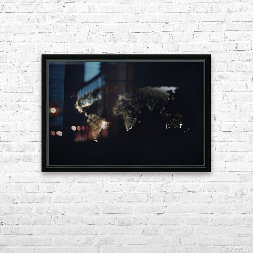 Dark Continent Heron HD Sublimation Metal print with Decorating Float Frame (BOX)