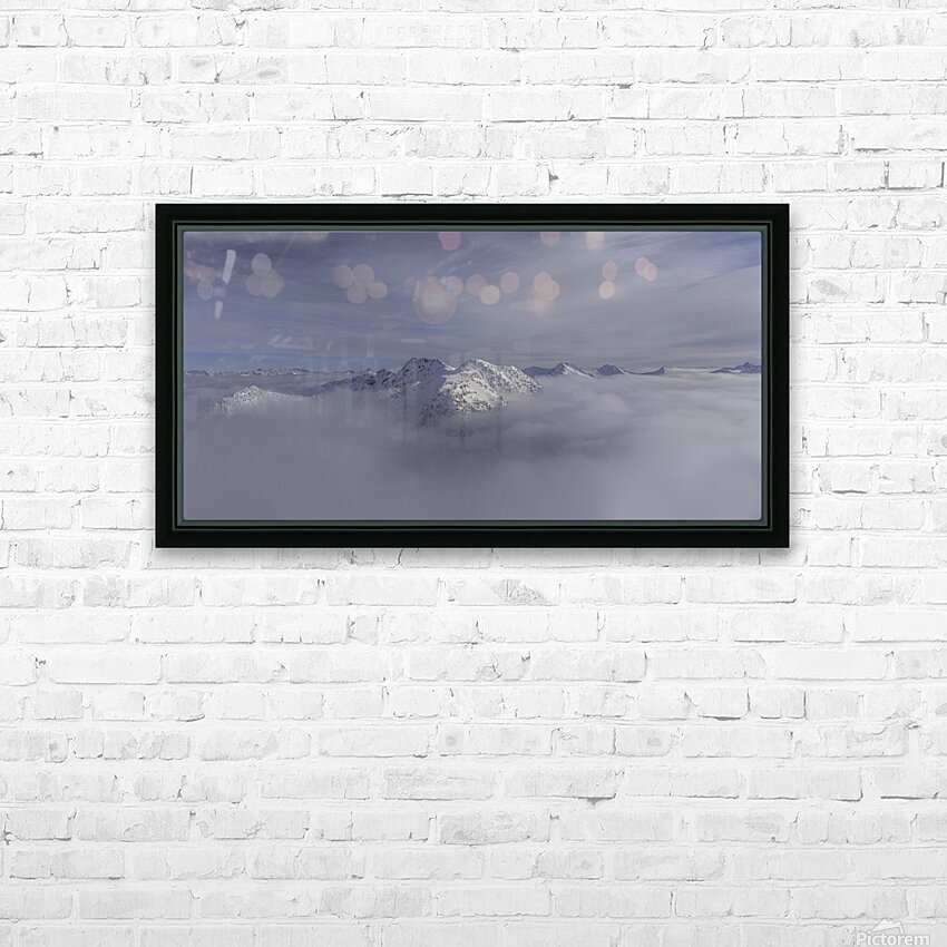 heli ski in the kootenays HD Sublimation Metal print with Decorating Float Frame (BOX)