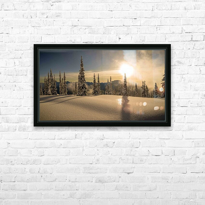Trout lake BC Alpine sunset HD Sublimation Metal print with Decorating Float Frame (BOX)