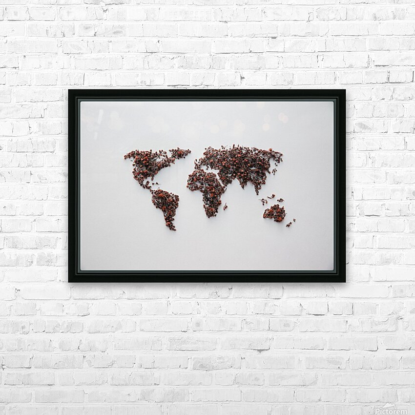 Light Continent Desertia HD Sublimation Metal print with Decorating Float Frame (BOX)