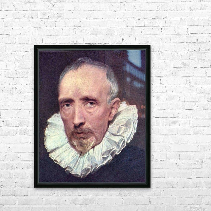 Portrait of Cornelius van der Geest by Van Dyck HD Sublimation Metal print with Decorating Float Frame (BOX)