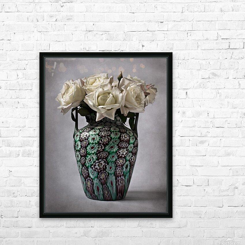 Venetian murrine vase HD Sublimation Metal print with Decorating Float Frame (BOX)