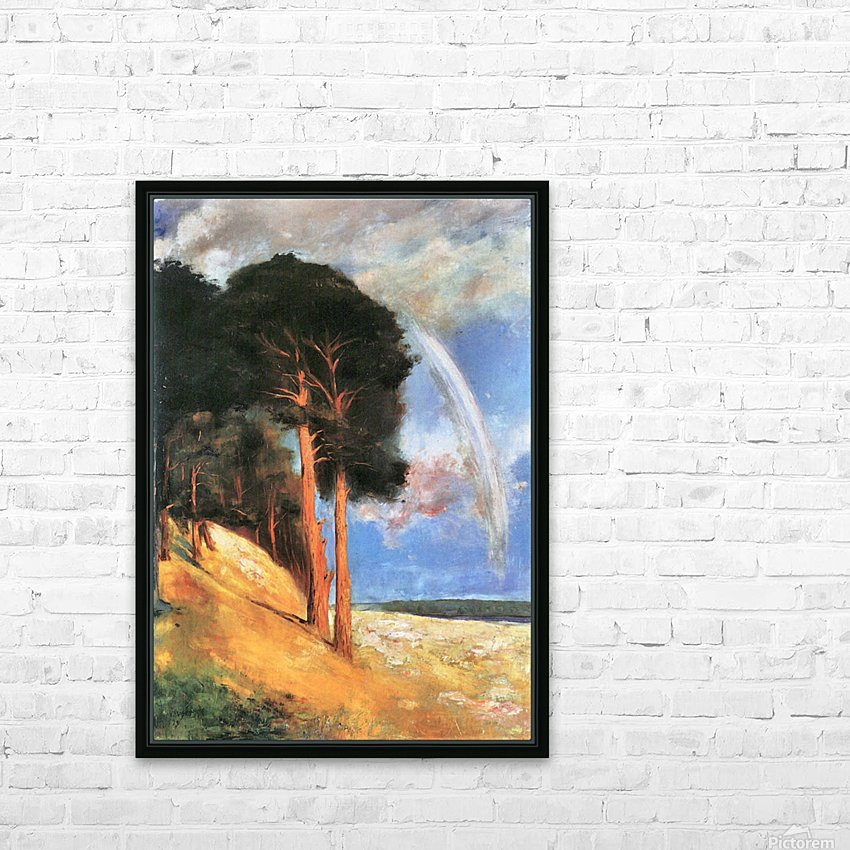 Landscape 2 by Lesser Ury HD Sublimation Metal print with Decorating Float Frame (BOX)