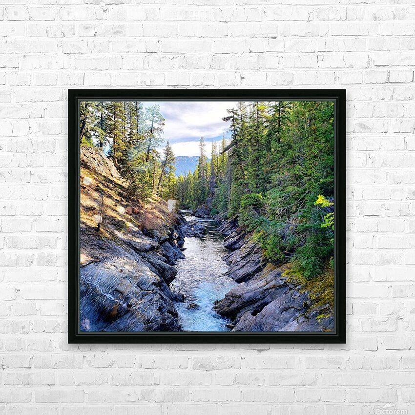 Icicle Gorge Trail HD Sublimation Metal print with Decorating Float Frame (BOX)