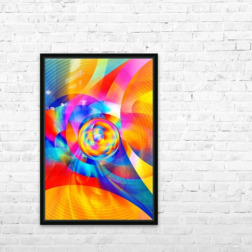4th Dimension - Abstract Art XVI HD Sublimation Metal print with Decorating Float Frame (BOX)