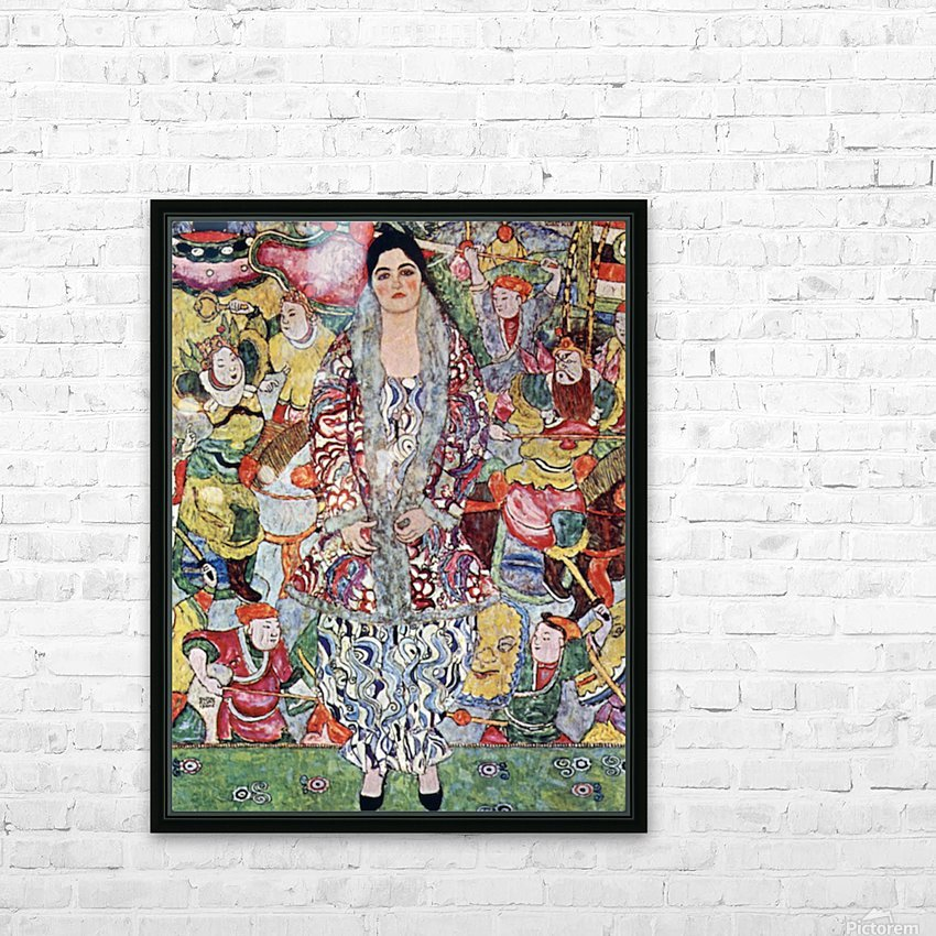 Portrait of Frederika Maria Beer by Klimt HD Sublimation Metal print with Decorating Float Frame (BOX)