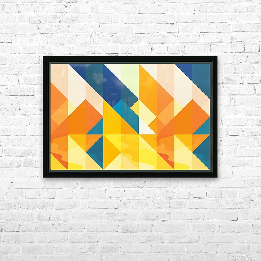 Geometric LI HD Sublimation Metal print with Decorating Float Frame (BOX)
