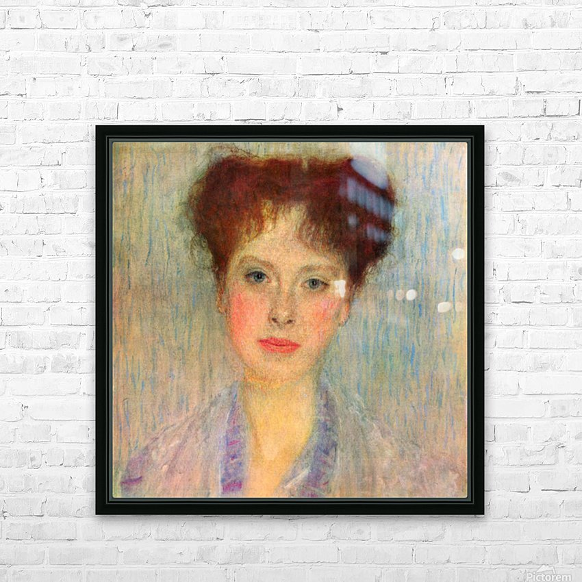 Portrait of Gertha Fersovanyi (detail) by Klimt HD Sublimation Metal print with Decorating Float Frame (BOX)