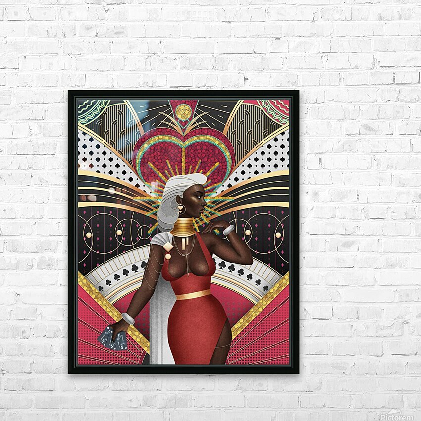 King Of Hearts HD Sublimation Metal print with Decorating Float Frame (BOX)