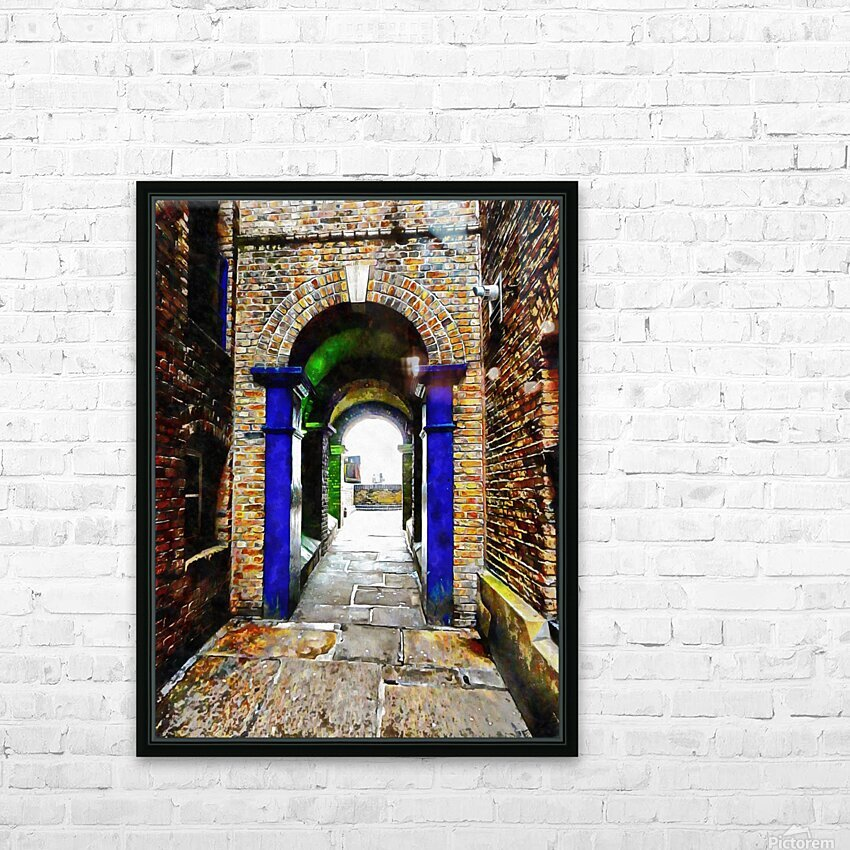Linking Shad Thames with the River Thames HD Sublimation Metal print with Decorating Float Frame (BOX)