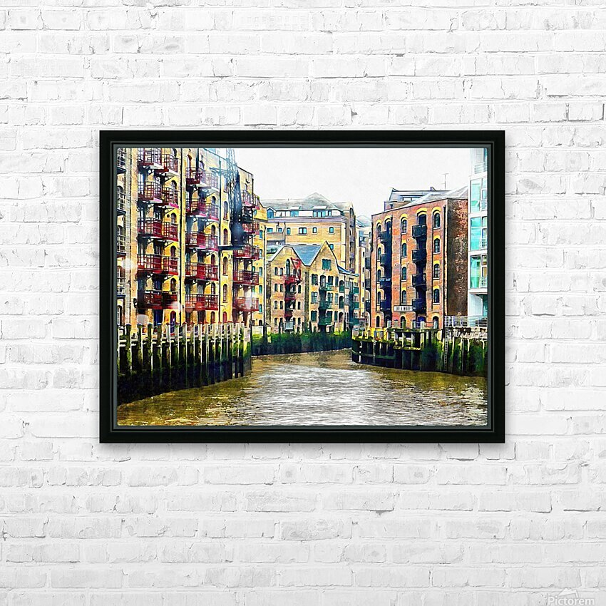 St Saviours Dock London HD Sublimation Metal print with Decorating Float Frame (BOX)