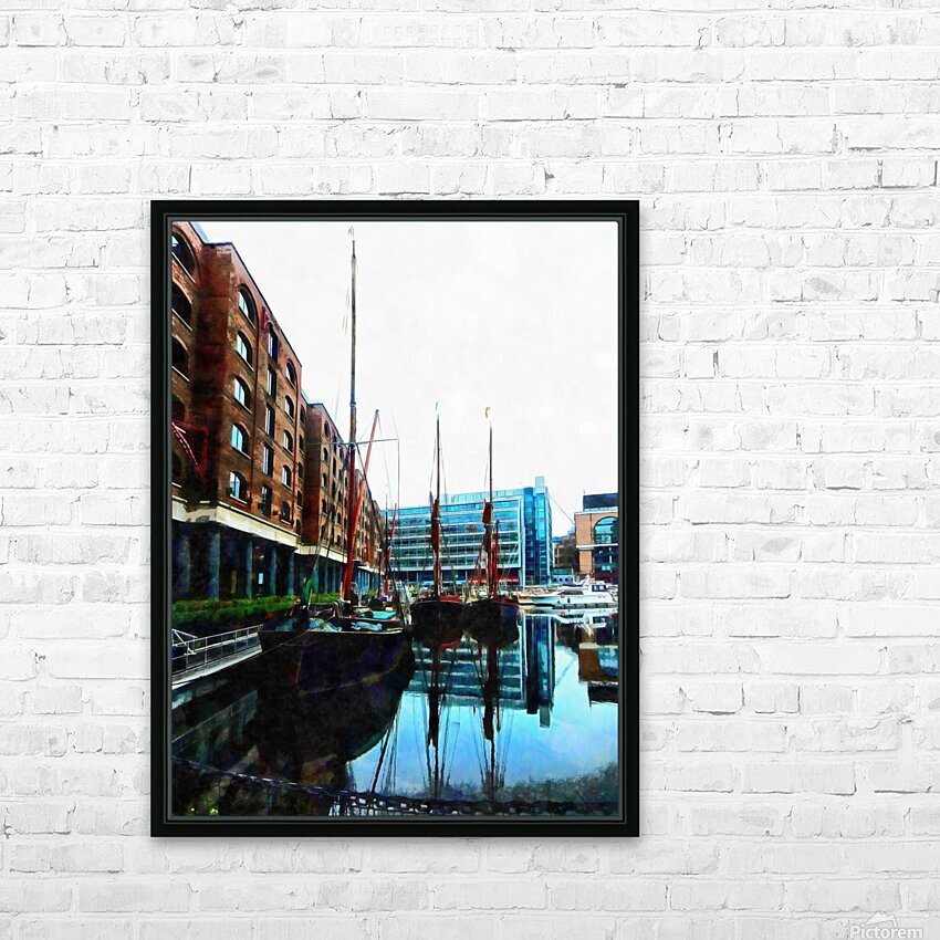 St Katharine Docks Boats 10 HD Sublimation Metal print with Decorating Float Frame (BOX)