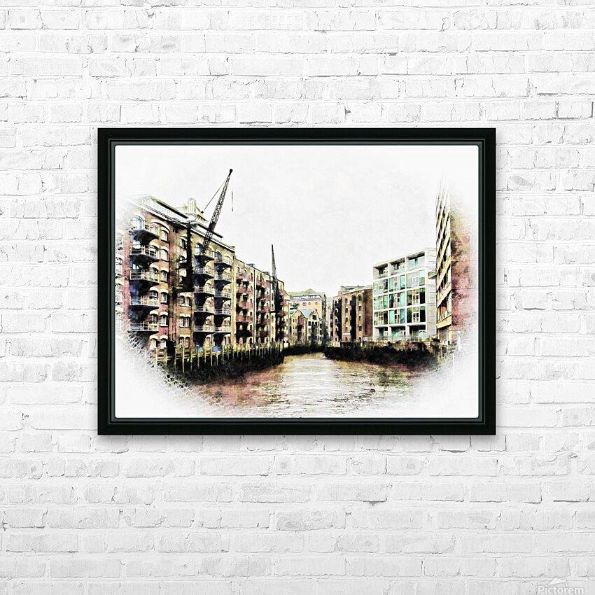 St Saviours Dock Bermondsey HD Sublimation Metal print with Decorating Float Frame (BOX)