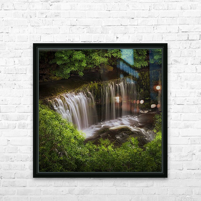 The Sgwd Isaf Clun-gwyn waterfall HD Sublimation Metal print with Decorating Float Frame (BOX)