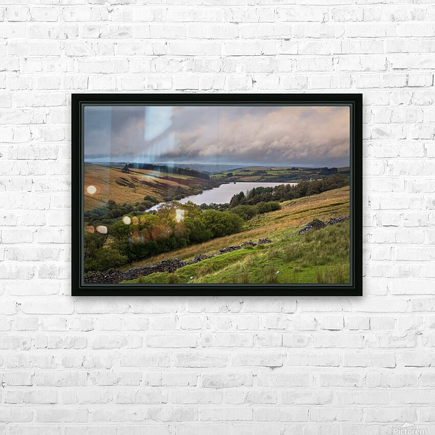 The Cray Reservoir in the Brecon Beacons National Park HD Sublimation Metal print with Decorating Float Frame (BOX)