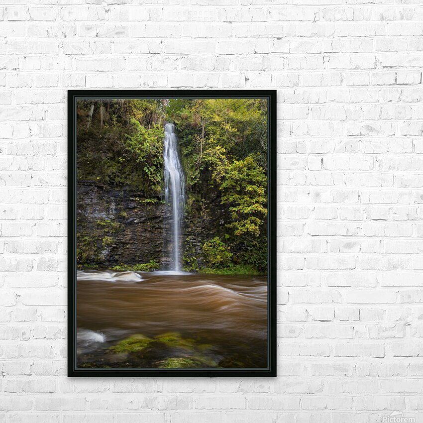 A waterfall on the river Tawe HD Sublimation Metal print with Decorating Float Frame (BOX)