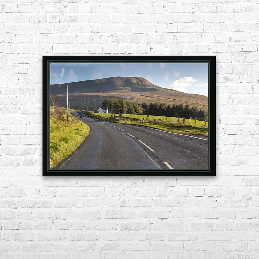 Fan Gyhirych in South Wales UK HD Sublimation Metal print with Decorating Float Frame (BOX)