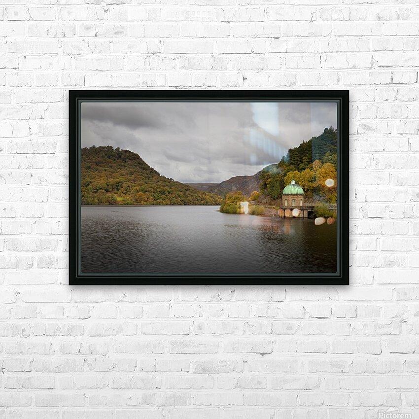 The Carreg Ddu reservoir HD Sublimation Metal print with Decorating Float Frame (BOX)