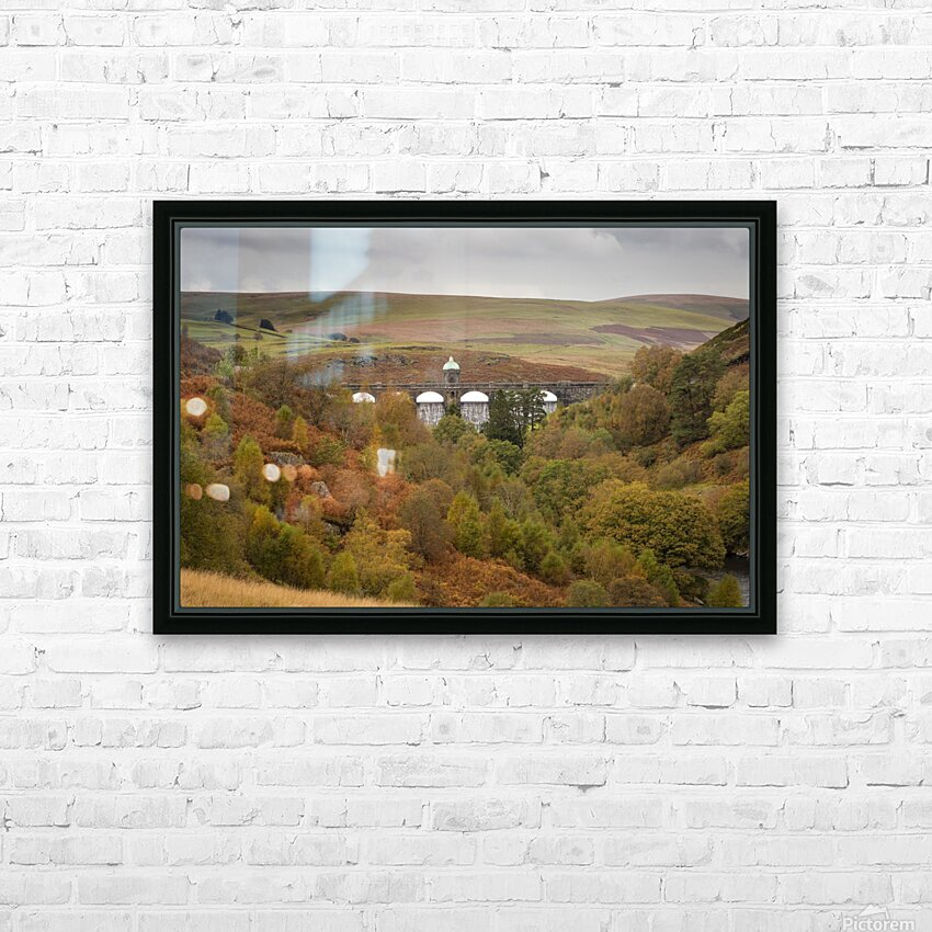 Elan Valley top dam HD Sublimation Metal print with Decorating Float Frame (BOX)