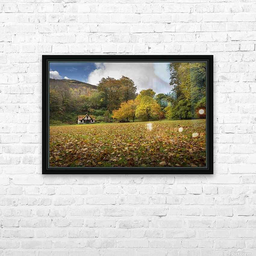 Autumn at Craig-y-Nos Country park  HD Sublimation Metal print with Decorating Float Frame (BOX)